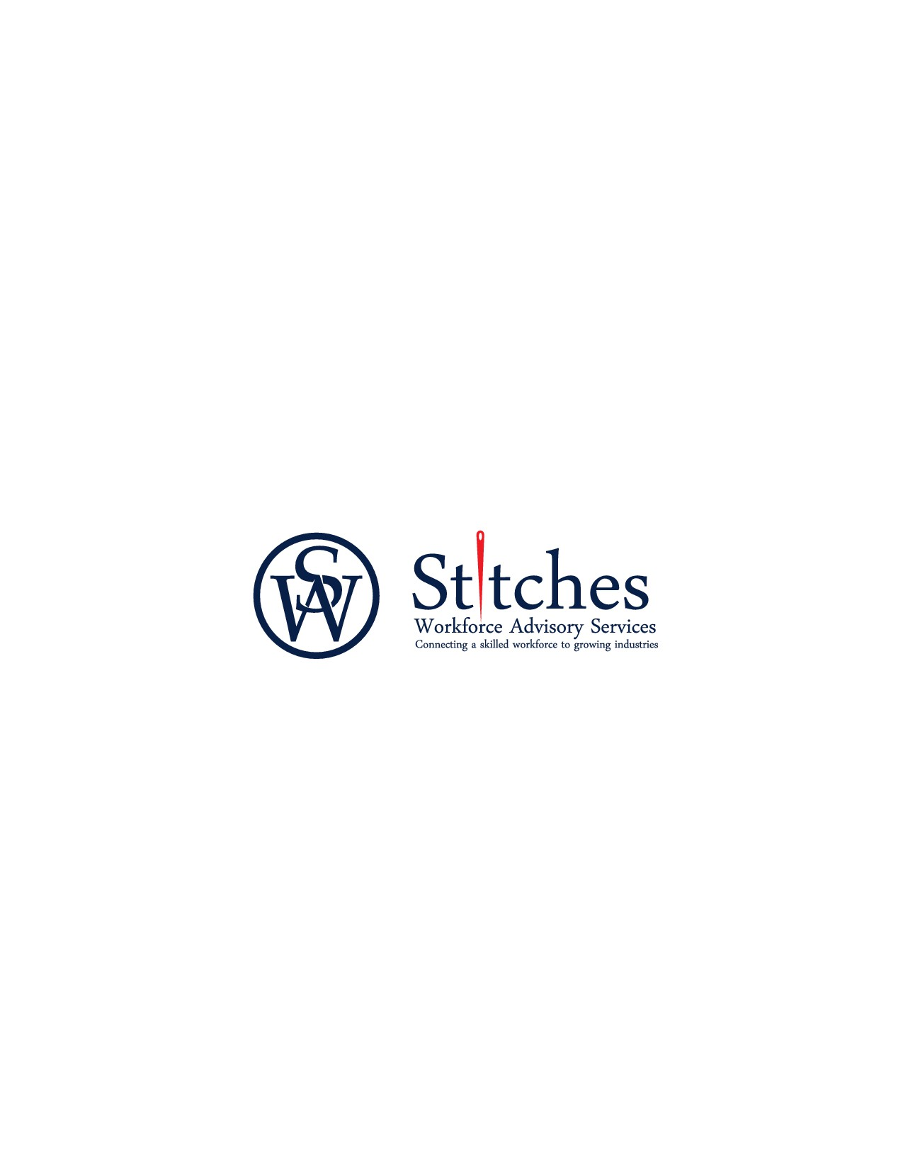Design a fashionable logo for Stitches Workforce Advisory Services  -  we are changing lives
