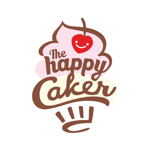 Create the next logo for The Happy Caker