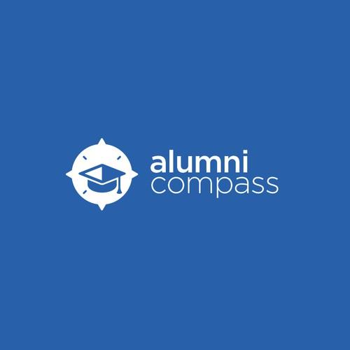 Alumni compass logo concept