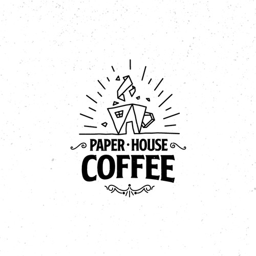 Logo concept for Paper House Coffee