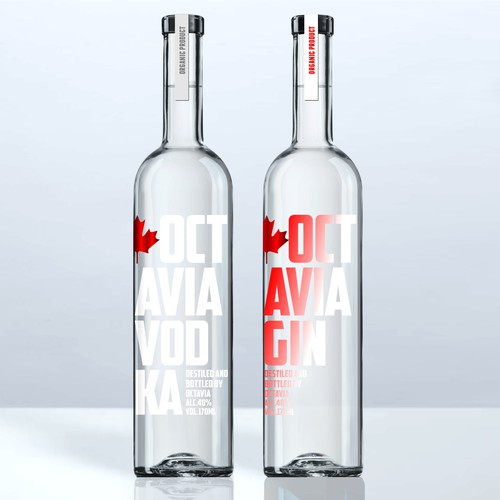 vodka gin label