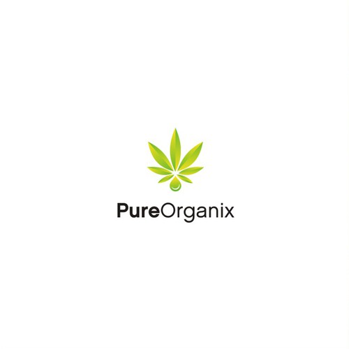 Modern logo with an organic feel for cannabis derived food products