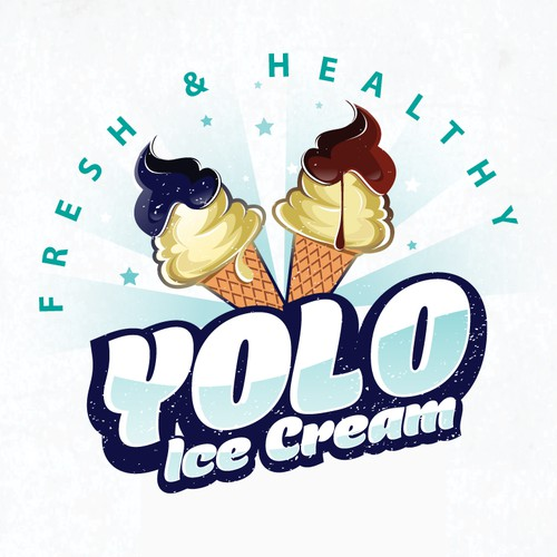 Bold Logo For Ice Cream Shop