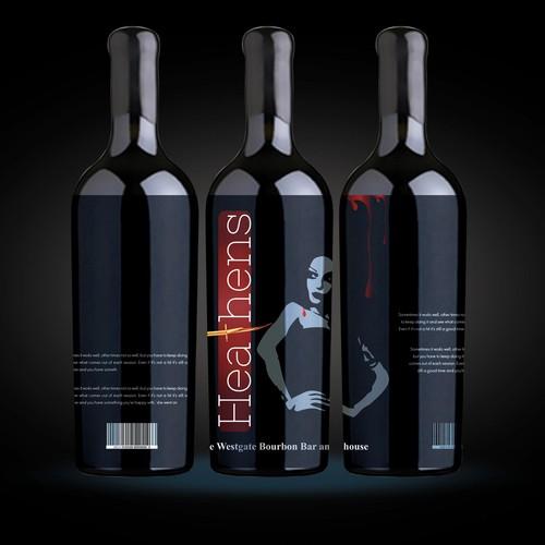 Label design for Wine Label Heathens