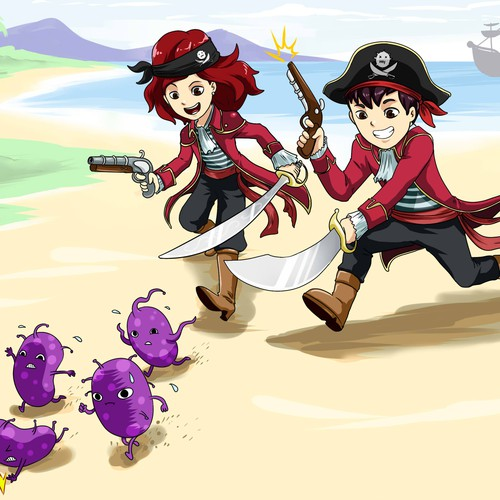 A pirate duo to impress the kids