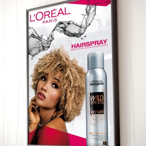 Loreal Hairspray Flyer