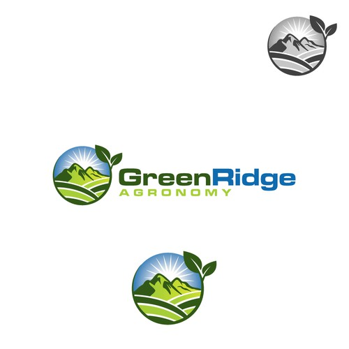 create an awesome, dynamic company logo for 'GreenRidge Agronomy'