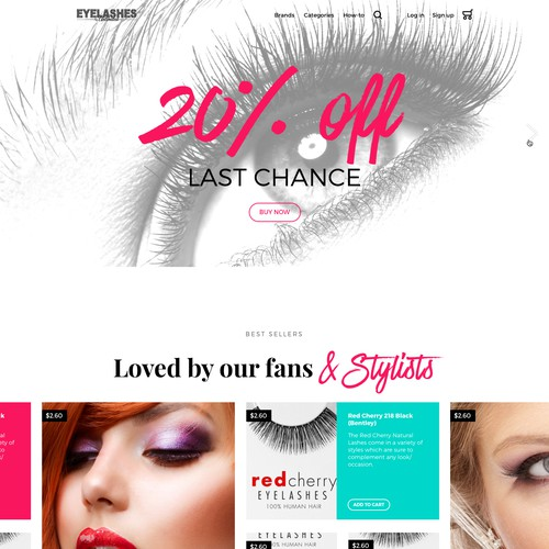 Homepage for Eyelashes Unlimited