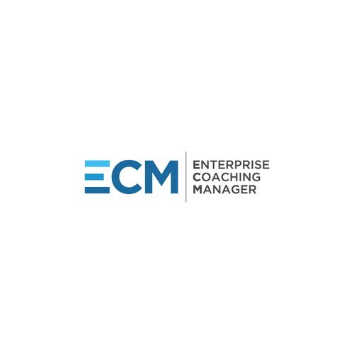 Bold , Clean Logo concept for Next-Generation Technology Platform Enterprise Coaching Manager ( ECM)