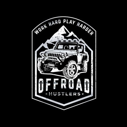 Clothing/Sticker Brand for people that go offroading in Jeeps and work hard and play harder