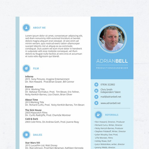 Resume Design for Adrian Bell
