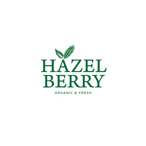 HAZELBERRY LOGO - boutique, raw, organic, back to nature food products.