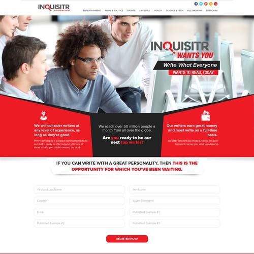 Inquistr publishing website