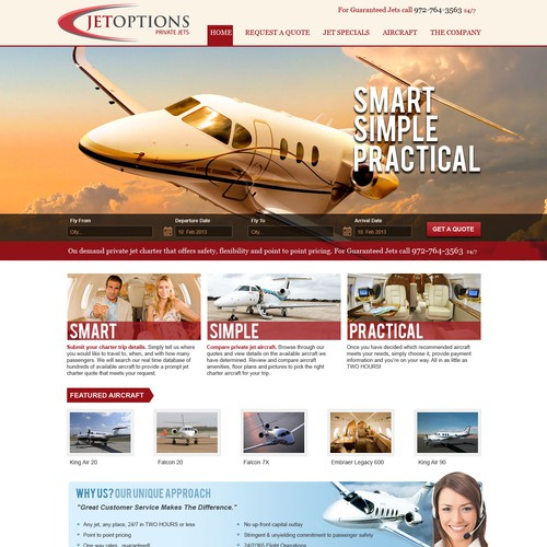 Web Design for Private Jet Company