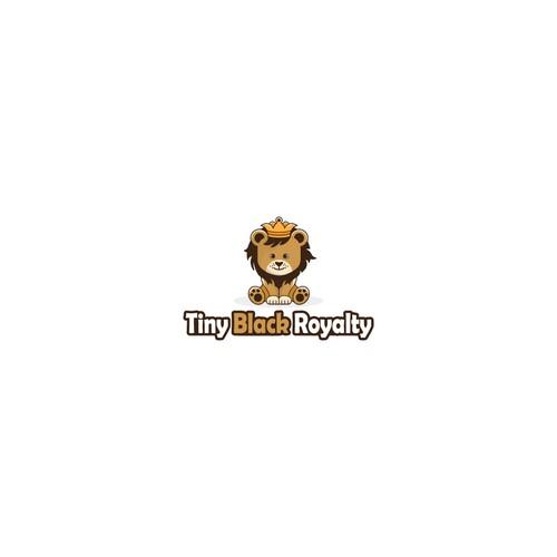 Playful logo for Tiny Black Royalty