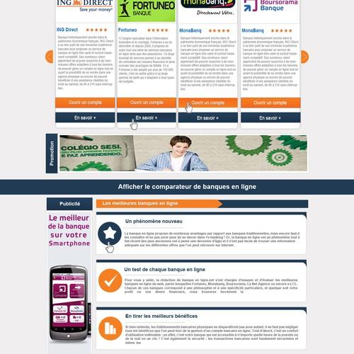 Help banque-en-ligne.info with a new website design
