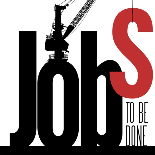 "Book cover concept for ""Jobs to be Done"""