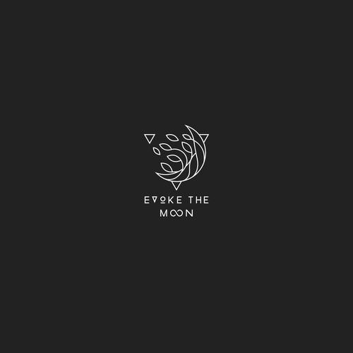 Line art design for Evoke the Moon Logo design