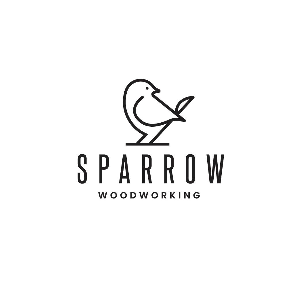 "Design a logo for Custom Furniture Builder ""Sparrow Woodworking"""