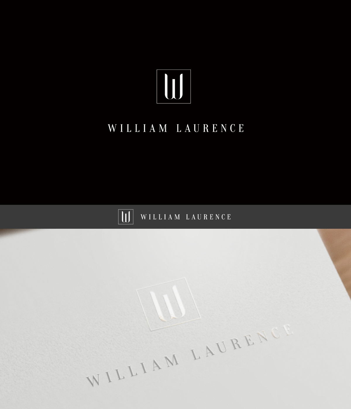 William Laurence, fashion-style photography, needs a logo
