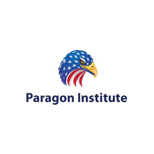 Bald Eagle Flag Vector Logo.