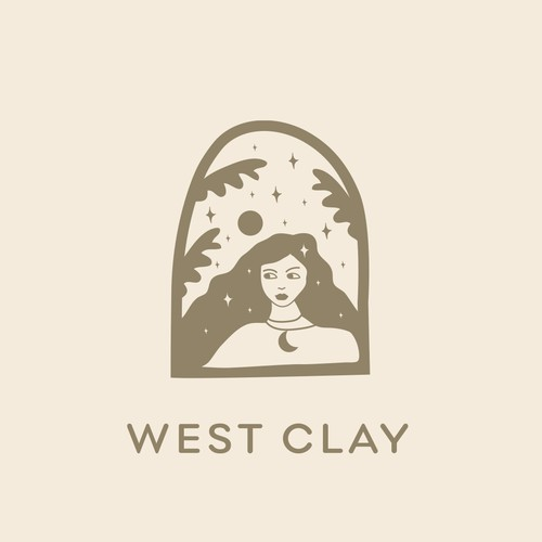 Whimsical and dreamy logo design concept for a modern and stylish hipster/bohemian art, jewelry, candle boutique