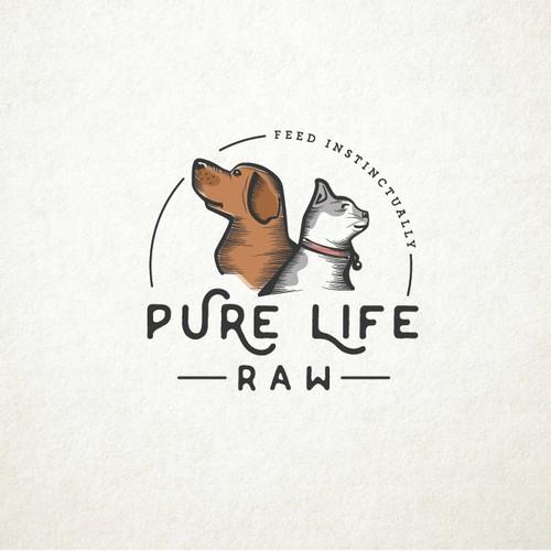 Modern vintage logo for pets.