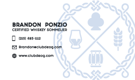 Business Card for Club Deog