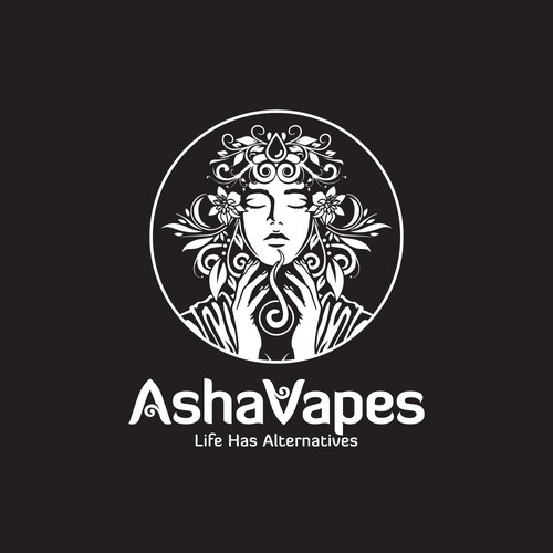 logo design for Asha Vapes