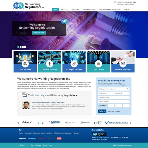 Create a new web site for Network Negotiators