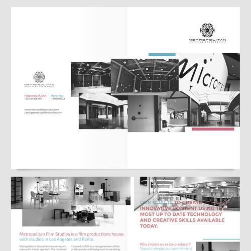 Brochure for International cinema production, film maker and TV broadcasting company