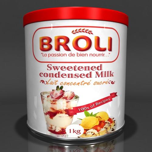 Label Design for Broli's condensed milk