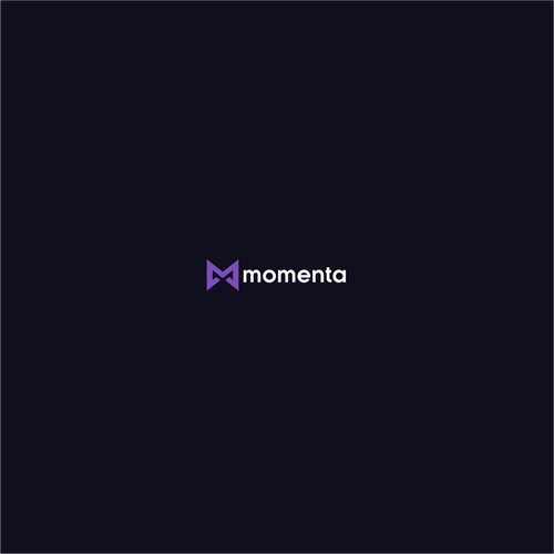 Logo for Momenta, group habit building game (dark mode, cool)