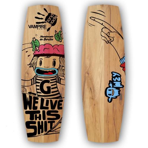 Wakeboard illustration VAMPIRE boards