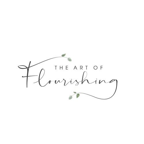 Minimalist botanic-floral style logo for psychologist