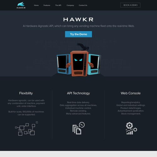 One page concept for a teachnology startup