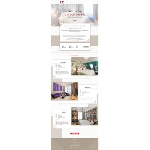Luxury website for luxury apartments