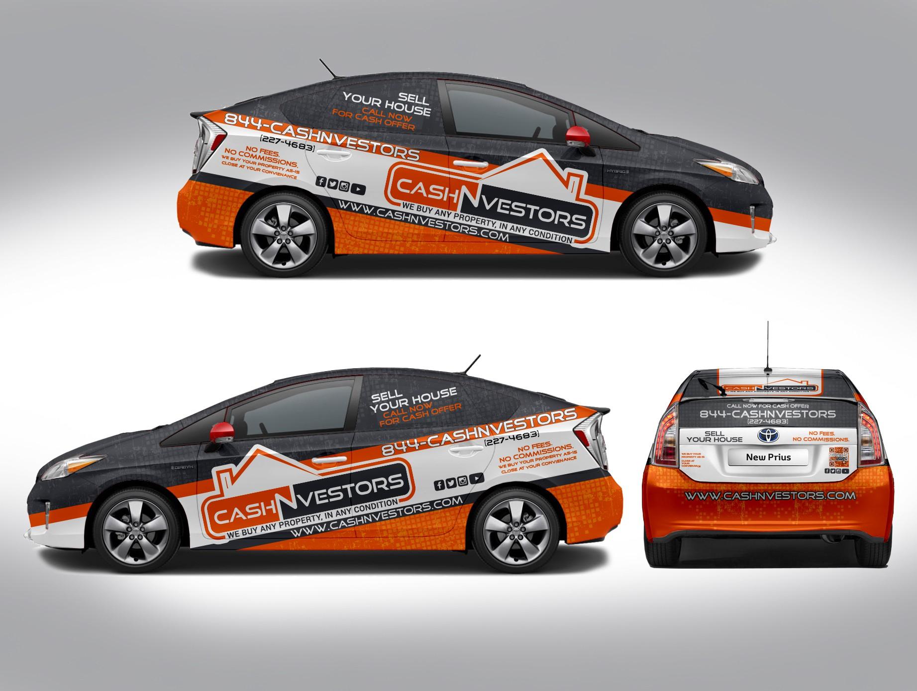 2015 Prius Modern Design Car Wrap. Open to any creative designer!!!