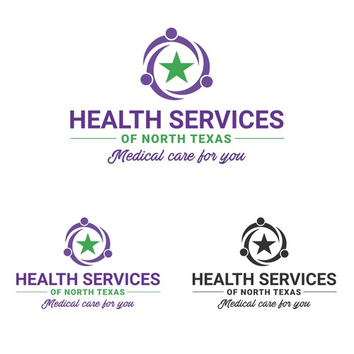 Flat logo concept for Health Services of North Texas