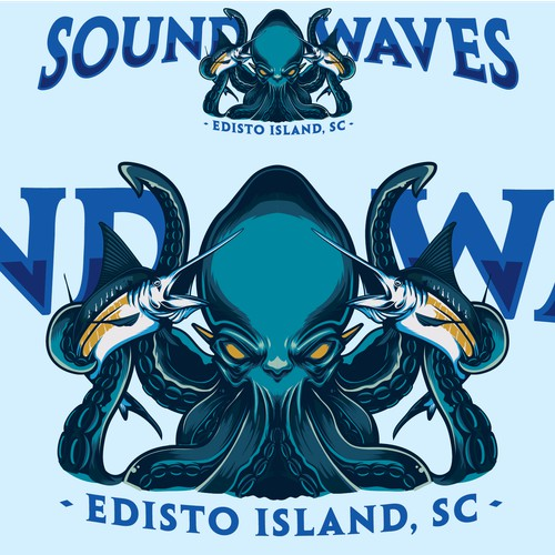 SoundWaves, Illustration for Boat Decal