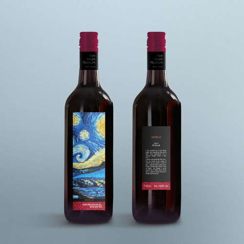 Van Gogh museum wine label