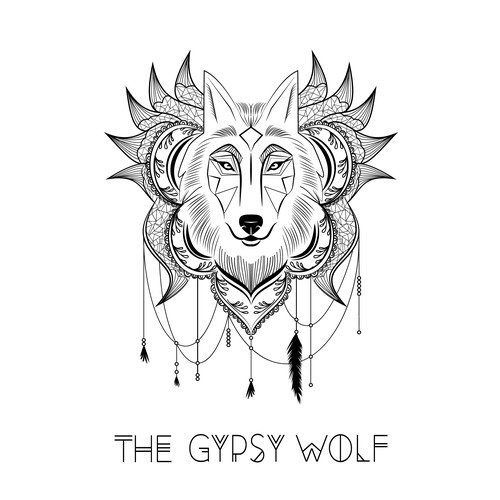 "Logo for ""Gypsy Wolf Threads"""