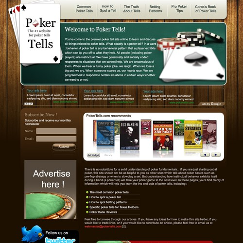 PokerTells.com facelift
