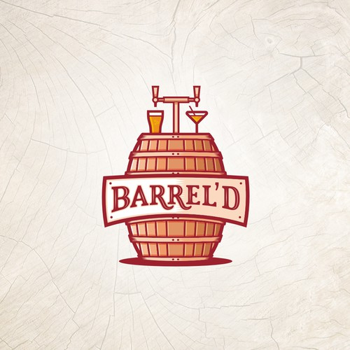 Create a Simple Illustrated Combination Logo for Barrel'd - Craft Cocktails on Tap