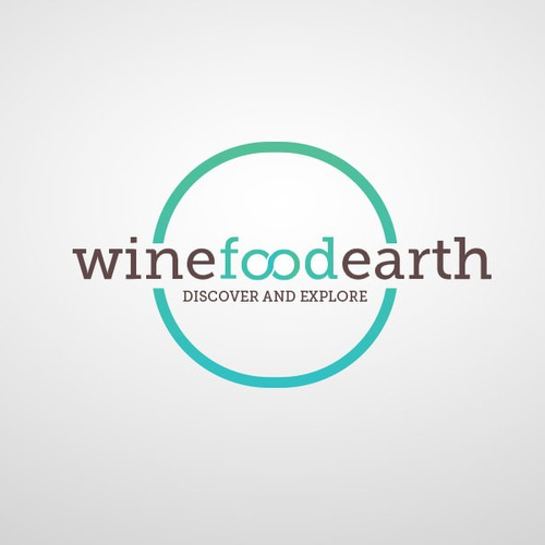 Create an elegant and simple yet catchy logo for WineFoodEarth