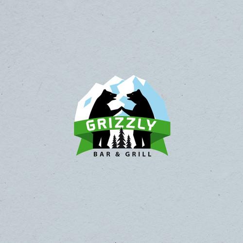 Logo for a Bar & Grill in Denali Alaska National Park