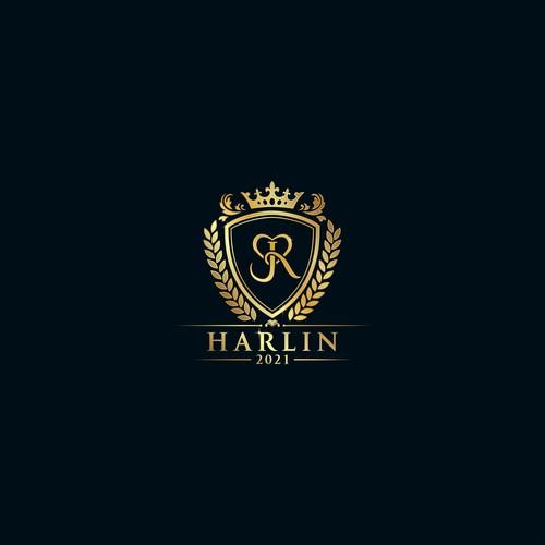 Luxurious logo for J&R celebrity wedding