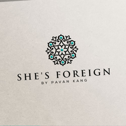 Elegant, classy logo for fashion jewelry brand She's Foreign