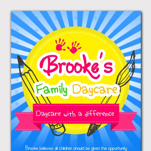 Create a Flyer for a Premium Home Day Care Service