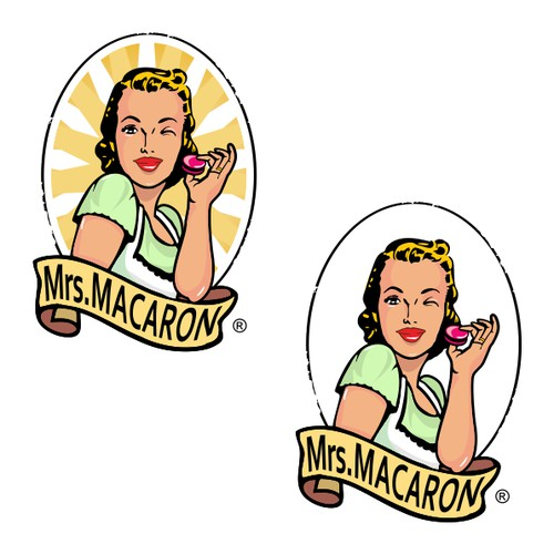 Create the next logo for Mrs Macaron